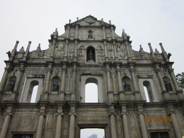 St Paulo church remains Macau 081010