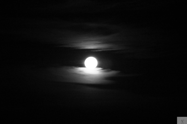 Blood Moon BW