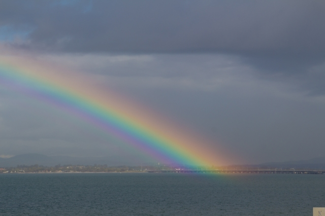 Rainbow over Bramble Bay